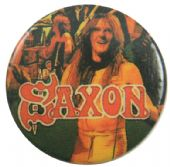 Saxon - 'Stage Collage' Button Badge